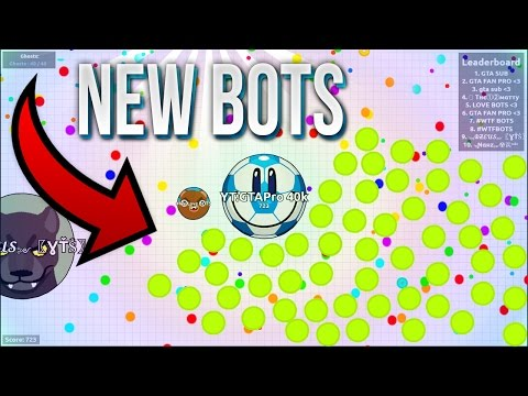 AGAR.IO - NEW BOTS AFTER PATCH! WORKING BOTS AGAR.IO // BOTS ARE BACK! (PUBLIC SERVER // GBOTS.IO)