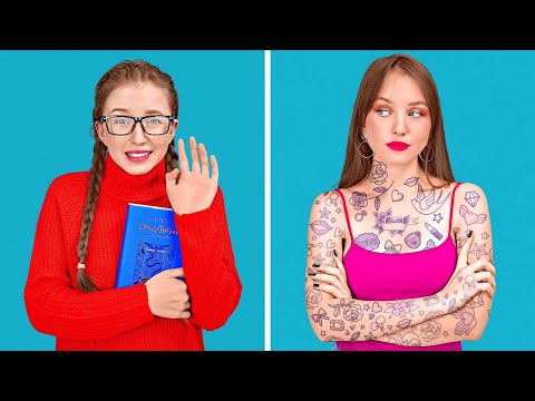 COOLEST HACKS TO BECOME POPULAR AT SCHOOL || Epic Tik Tok Hacks Tested by 123 GO!