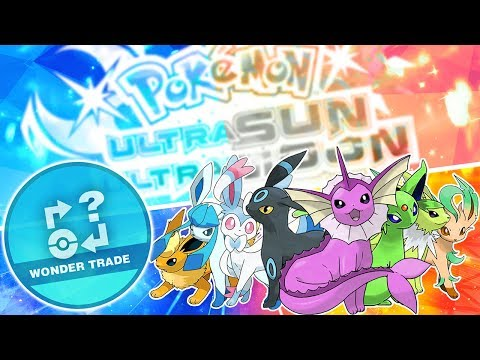Wonder Trading Shiny Eeveelutions! Pokemon Ultra Sun and Ultra Moon!