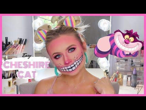 Easy Cheshire Cat Makeup Tutorial | TANNER MANN thumbnail