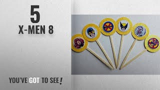 Top 10 X-Men 8 [2018]: 8 X-Men Cupcake Toppers for Birthday Party Favor Goody Xmen Storm Cyclops