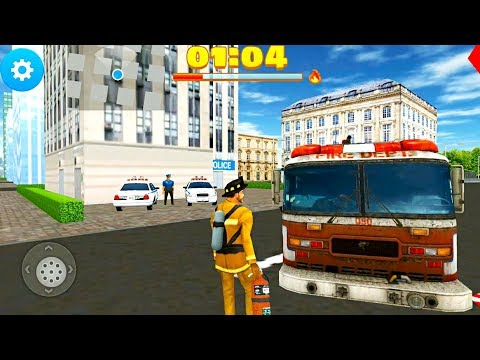 Fire Truck Game 2017 - 911 Rescue Firefighter - Android Gameplay FHD