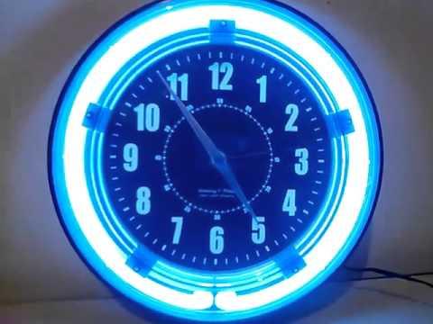 Reloj de pared con luz de neon youtube - Relojes de pared ...