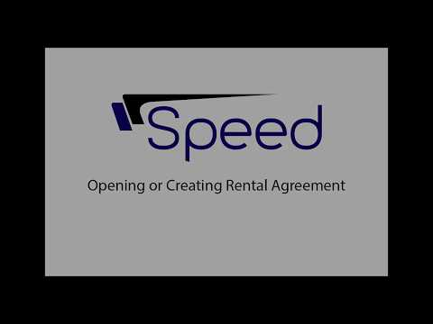 Rental Agreement Opening - Speed Auto Systems