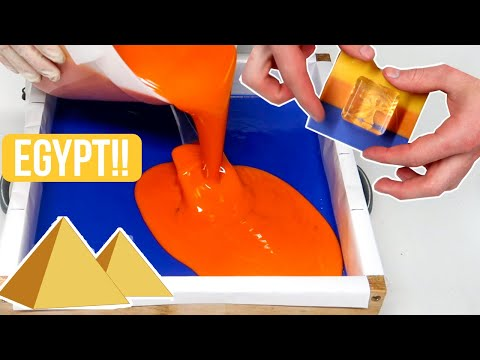 COOL SOAP STAMP + The Great Pyramids of Egypt Soap Making   Royalty Soaps
