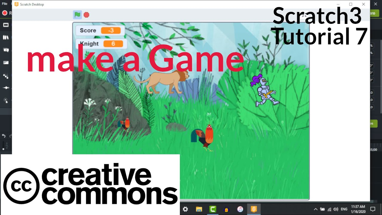 Scratch3 Tutorial 7 - Creating a Game - Lion and the Knight