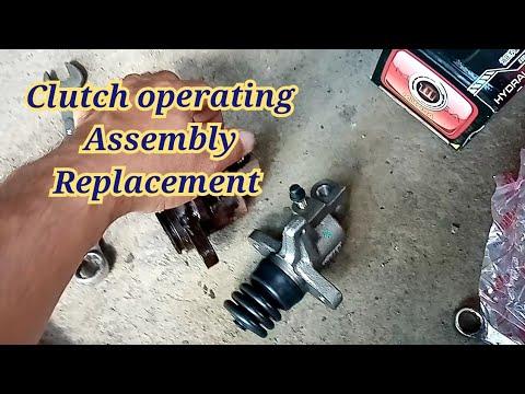 Clutch operating assembly replacement /isuzu elf truck / clutch leak/ how to fix