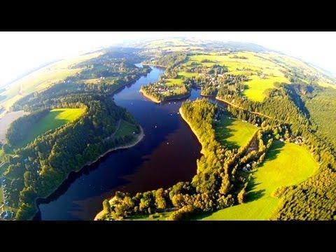 Přehrada Pastviny - podvečerní přelet [HD]