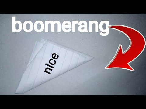 How to make a triangel boomerang out of paper easy!!