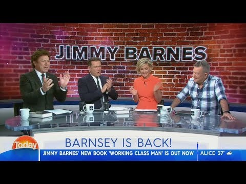 Aussie Rock legend Jimmy Barnes turned author - Karl Stefanovic