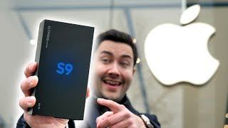 Unboxing Galaxy S9 devant un Apple Store !