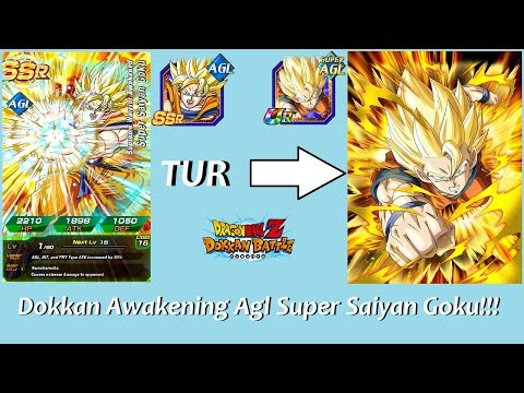 TUR Dokkan Awakening Agl Super Saiyan Goku!!!