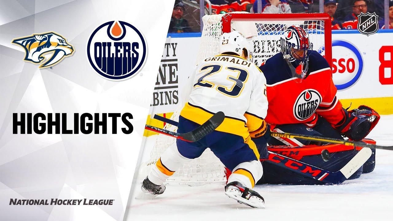 NHL Highlights | Predators @ Oilers 1/14/20