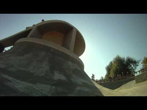 Skateboarders visit the Tulsa Zoo