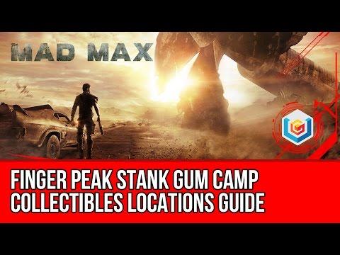 Mad Max Finger Peak Stank Gum Camp Collectibles Locations (Scrap/Insignia/History Relic)