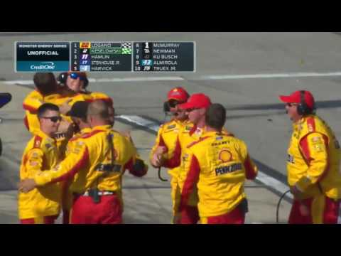Joey Logano Wins First Race of the Year - 2017
