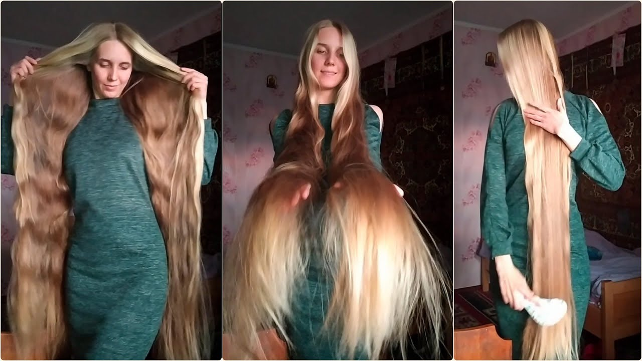 Rapunzel's Extra Silky & Shiny Blonde Hair (Combing, Braiding, Stroking)