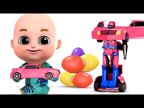 Surprise Eggs | Robot Car Transformers for Kids - Part 03 | Surprise EggsVideos  from  jugnu Kids