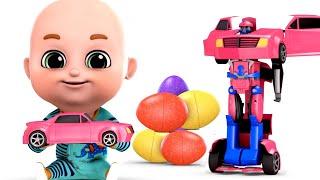 Surprise Eggs - Robot Car Transformers for Kids - Part 03 - Surprise Eggs Videos from Jugnu Kids