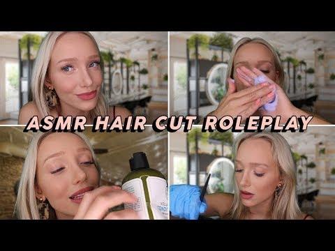 ASMR Binaural Haircut Roleplay 💖💇♀️ (Shampoo Suds, Brushing, Cutting, Tinfoil)   GwenGwiz