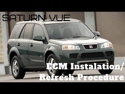 Saturn Vue Ecm installation and reflash procedure