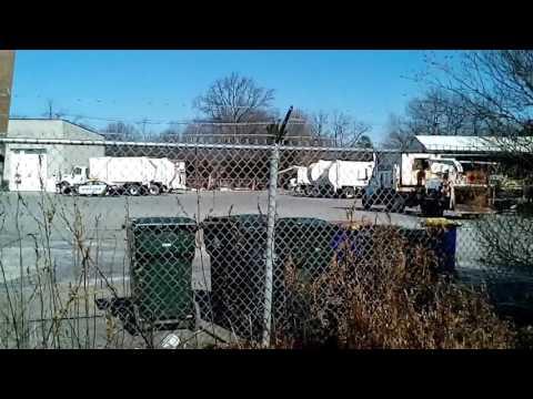 City of Newark Delaware garbage truck yard