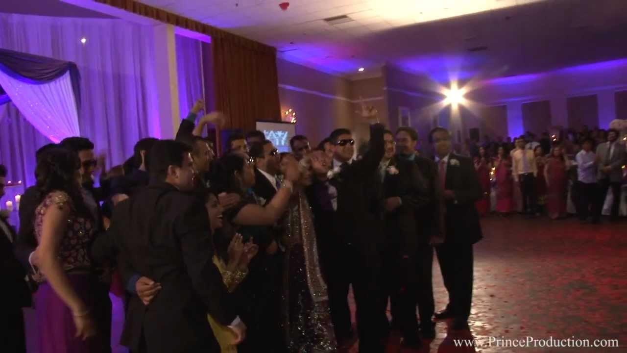 Parth Romas Indian Wedding Reception Entrance Youtube