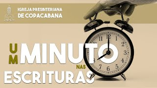 Um minuto nas Escrituras - Não se turbe
