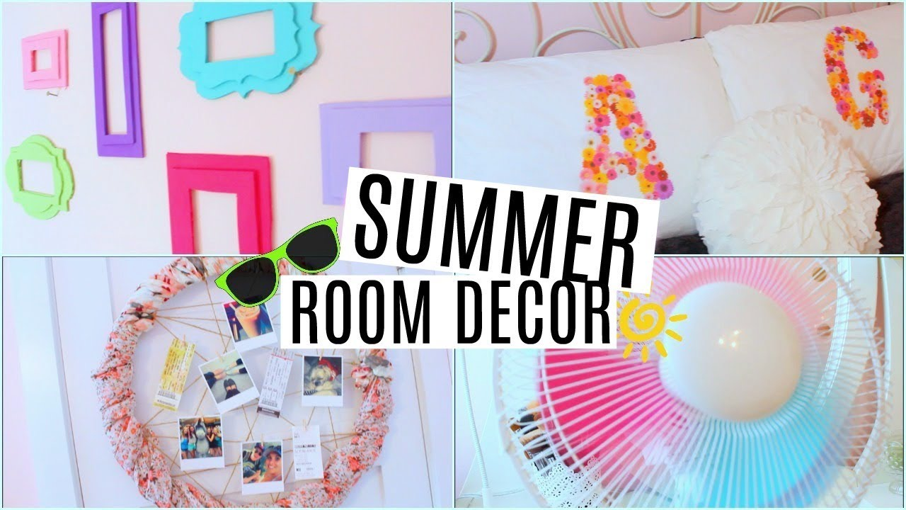 Diy summer room decor tumblr inspired youtube for Room decor out of paper