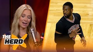 Dwyane Wade posts to Twitter after Kyrie Irving trade - Kristine and Colin react | THE HERD