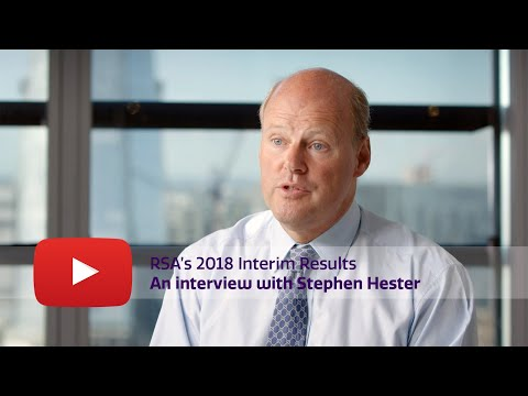 RSA 2018 Interim Results: Stephen Hester interview