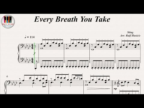 Every Breath You Take - The Police (Sting), Piano
