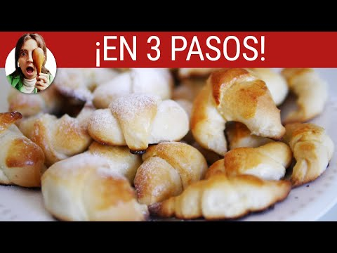 GOLDEN CRESCENT ROLLS RECIPE IN ONLY 3 STEPS (Spanish)