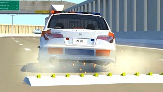 BeamNG Drive - SPIKE STRIP HIGH SPEED CRASHES #3