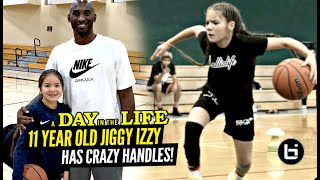 11 Year Old Jiggy Izzy Has CRAZY Handles & Gets KOBE'S Seal of Approval!! Day In The Life
