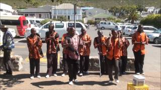 South African Men Preforming Traditional African Dances