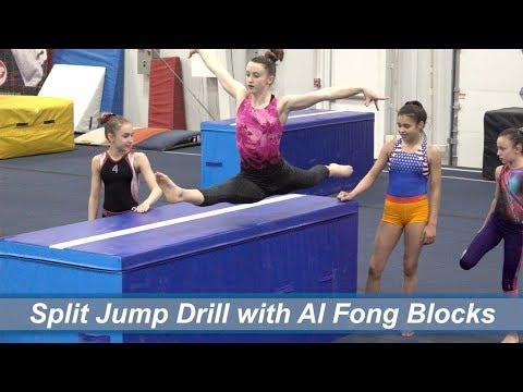 Split Jump Drill with Al Fong Blocks