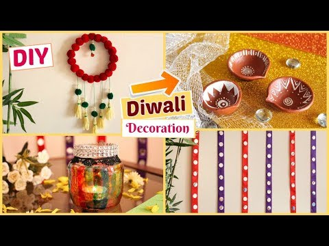 DIY Diwali Decoration Ideas   Last minute Diwali Home Decor Ideas - Under Budget!!