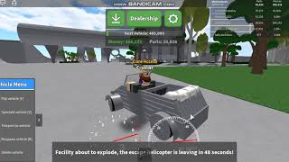 Activating And Escaping the Energy Core Explosion In Car Crushers 2! -Roblox
