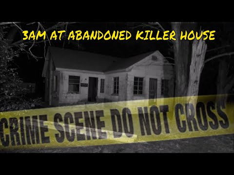 (ABANDONED KILLER HOUSE) 3AM EXPLORING A CRAZY KILLER HAUNTED HOUSE, GHOSTS RESIDE HERE