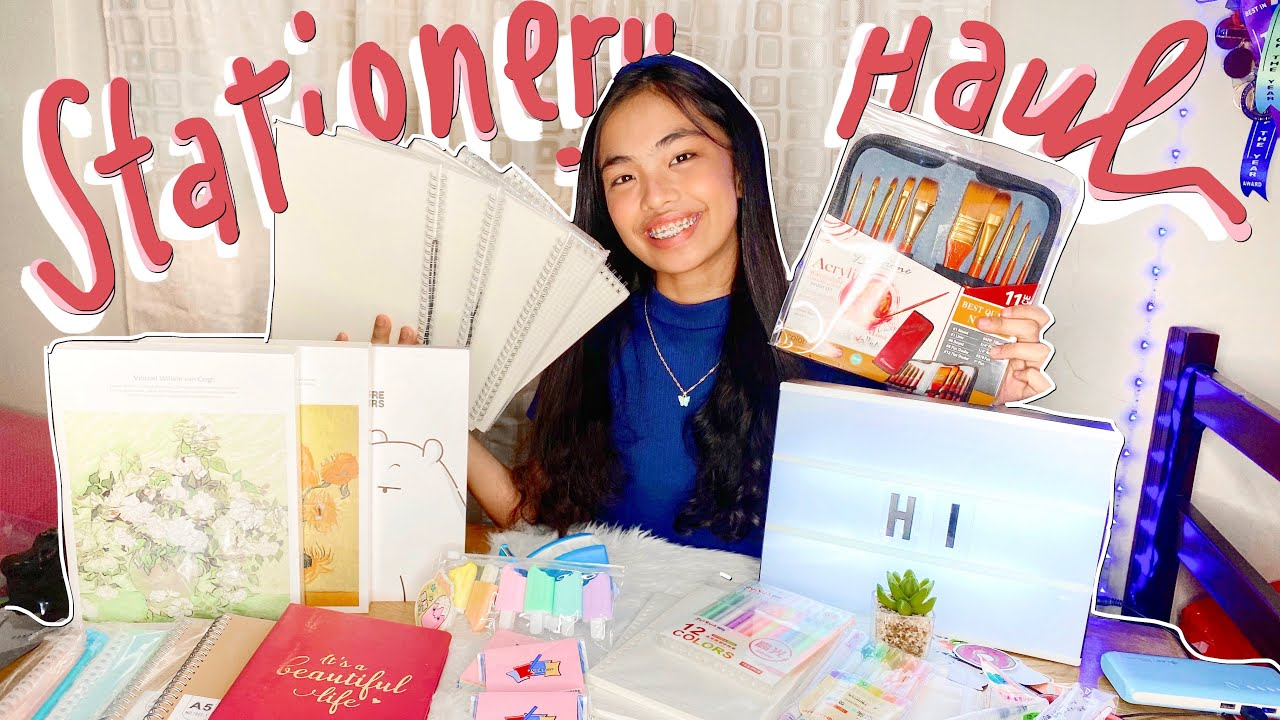SHOPEE STATIONERY HAUL✨💛 (BE 7.7 READY!) | Queenie Dy