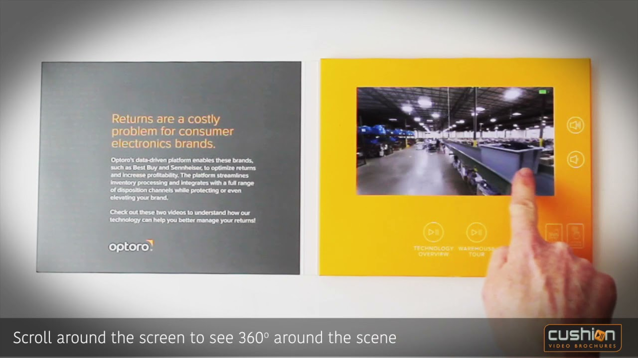 360 Degree Touch Screen - Cushion Video Brochure's Latest Technology