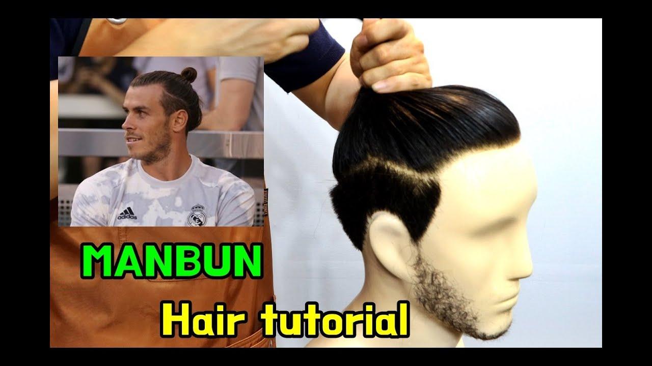 Gareth Bale Hair Cut Styling Samurai Man Bun Tutorial Youtube
