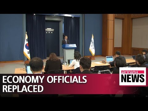 Pres. Moon replaces finance minister and chief presidential policy chief