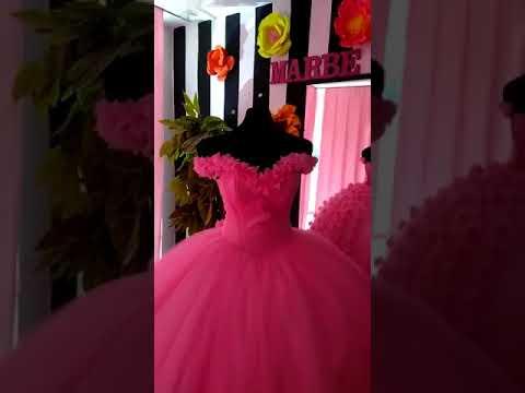 Vestido Xv Años Rosa Mexicano Marbe Ramos Youtube