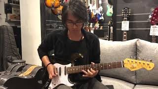 Tokai Guitar Japan AST165SH SEB Makie In Seethru Black With Golden Filling Modern Goldstar Sound