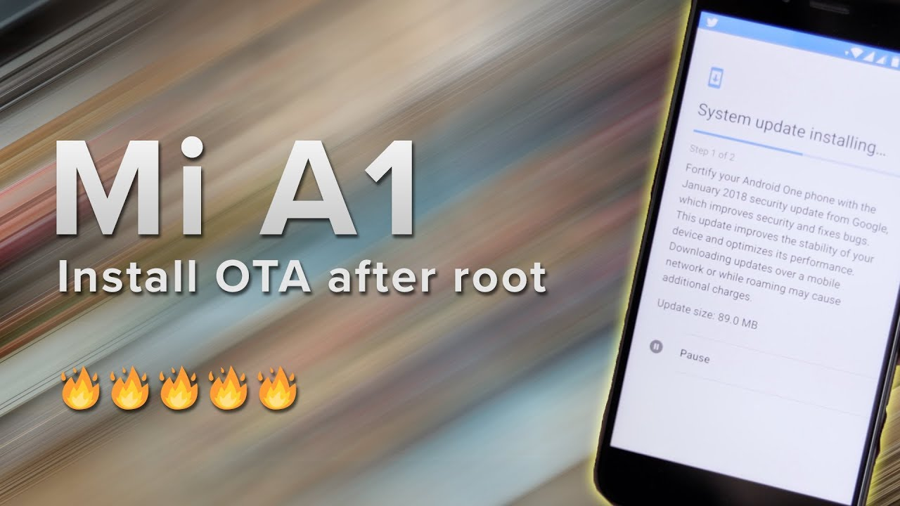 Mi A1 | How to install OTA after root