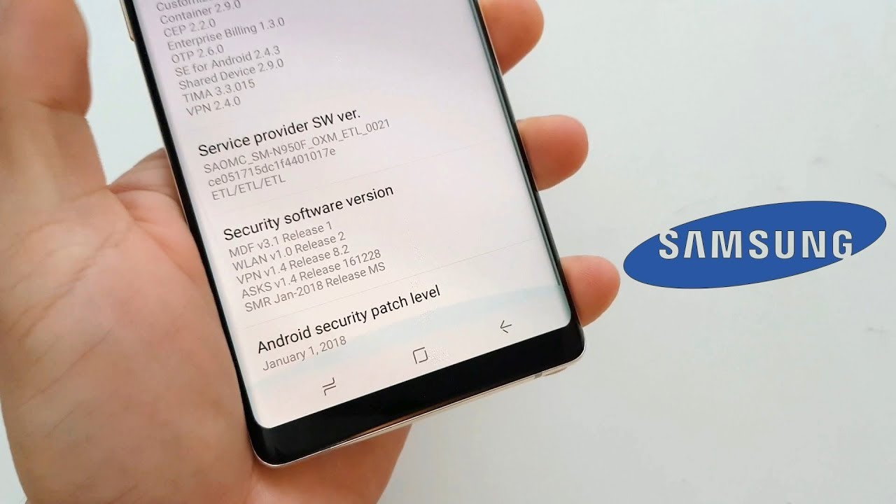 Samsung Galaxy Note8 January 2018 security patch update rolling out