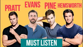 Chris PRATT Chris EVANS Chris HEMSWORTH and Chris PINE Acting Advice