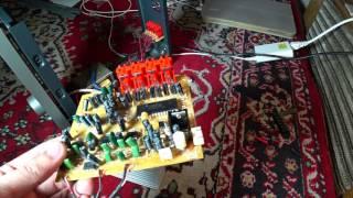 Ремонт найденного усилителя Microlab.